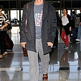 On Saturday, Matthew McConaughey caught a flight out of LA.