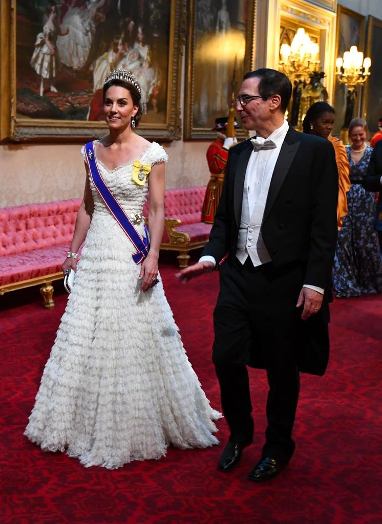 Kate Middleton White Dress at State Banquet 2019
