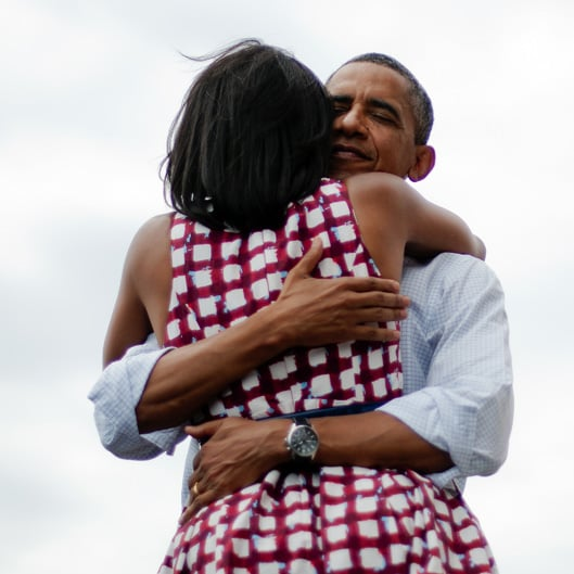 Barack and Michelle Obama PDA