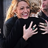 Blake Lively shared a hug with Kelly Rutherford in October 2011.