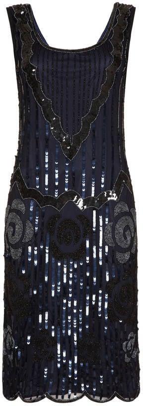 Gatsbylady London Petite-Length Flapper Embellished Dress