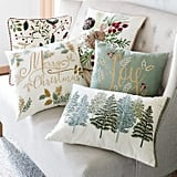 Beaded Green Trees Lumbar Pillow