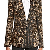 Smythe Women's Leopard Puff Shoulder Wool Blazer