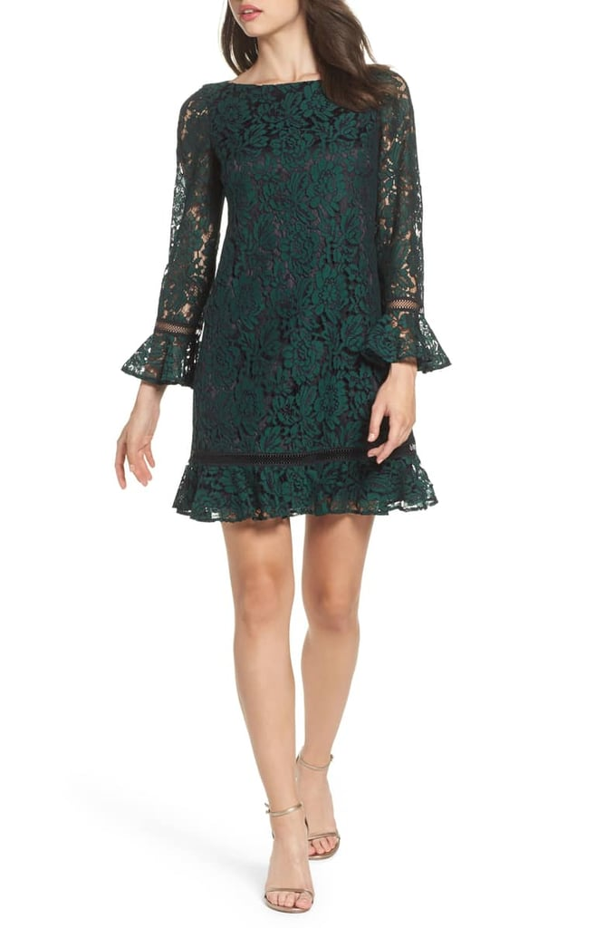 a91852a48f Eliza J Bell Sleeve Lace Shift Dress