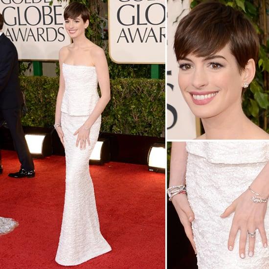 Anne Hathaway   Golden Globes Red Carpet Fashion 2013