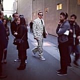 Will Ferrell sported a pure money suit to accept his golden popcorn at the MTV Movie Awards. Source: Instagram user mtv