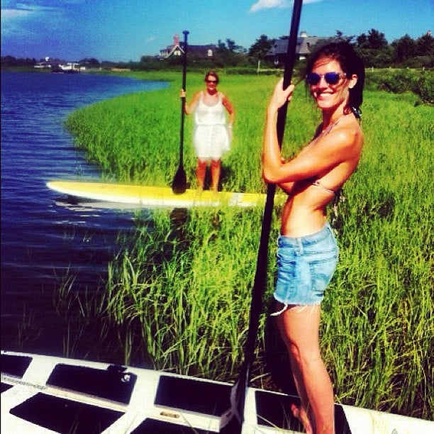 Hilary Rhoda went paddleboarding with her mum. Source: Instagram user hilaryrhoda