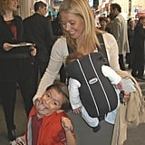 Michael goofed off with his mom and Joaquin at the Broadway opening of A Year With Frog and Toad in April 2003.