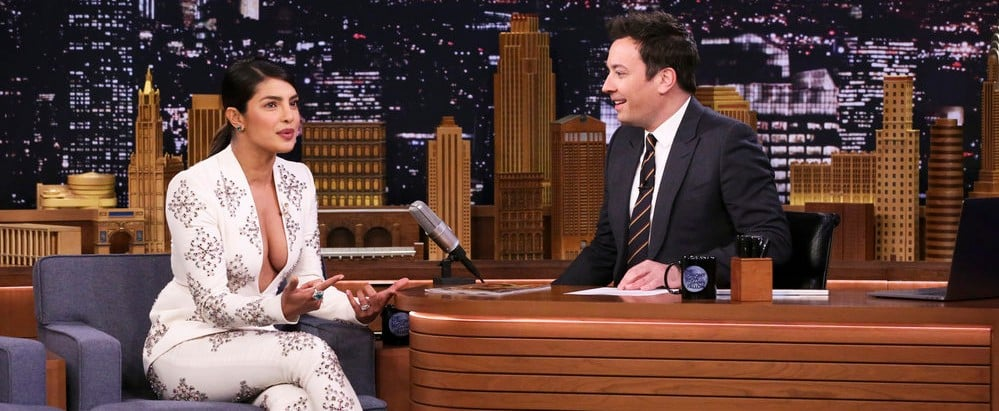 Priyanka Chopra White Suit February 2019