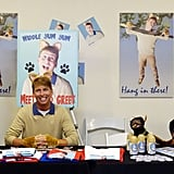 30 Rock's Jack McBrayer hosted panels at the Con and even created his own cat-spirational posters.