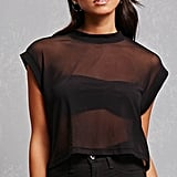 Forever 21 Sheer Mesh Boxy Crop Top