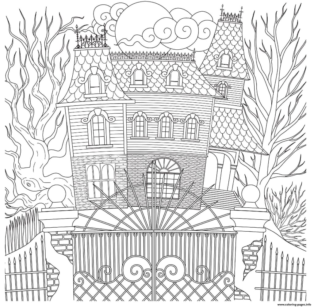 Spooky Haunted House Printable