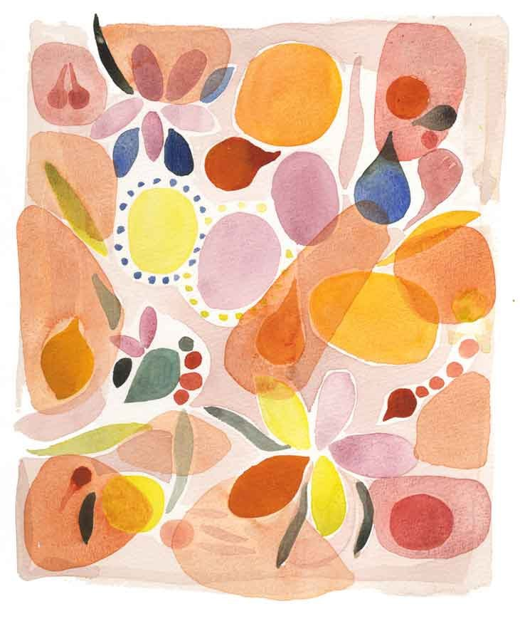 'Tis the season of all things orange, and this nature print ($25), with all its pretty fruits and flowers, will add some serious flair.
