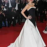 Blake Wearing a Gucci Première Strapless Gown at Cannes in 2014