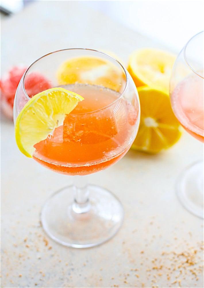 Light Citrus Winter Paloma Cocktail