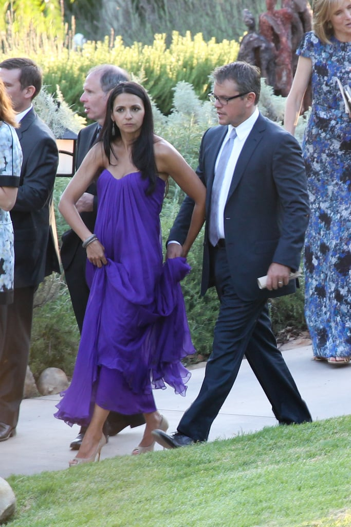 Luciana And Matt Damon Attended The Wedding