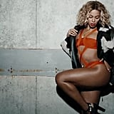 """POPSUGAR: How did you start working with Beyoncé? Lubov Azria: Beyoncé has been a fan of the brand for years. A few months ago, her team approached us for Hervé Léger by Max Azria swim, which we were very excited to send. For her Mrs. Carter tour, her stylist recently requested looks from our Spring 2014 collection, which we customized. Beyoncé wears Hervé Léger in the video for """"Yoncé"""""""