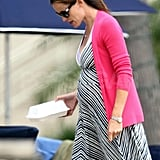 Jennifer Garner pregnant on the beach in Santa Monica.