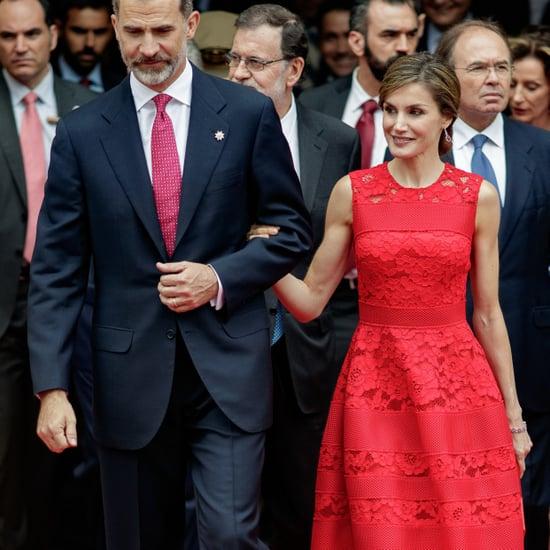 Queen Letizia's Carolina Herrera Red Dress June 2017