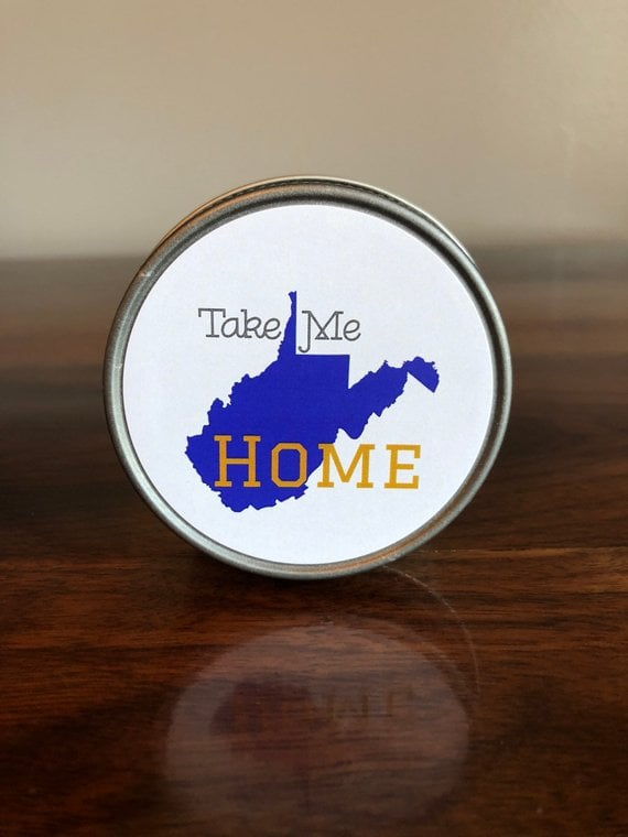 West Virginia Soy Jelly Jar Candle