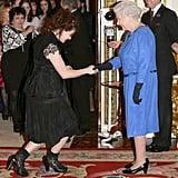 Queen Elizabeth II and Helena Bonham Carter