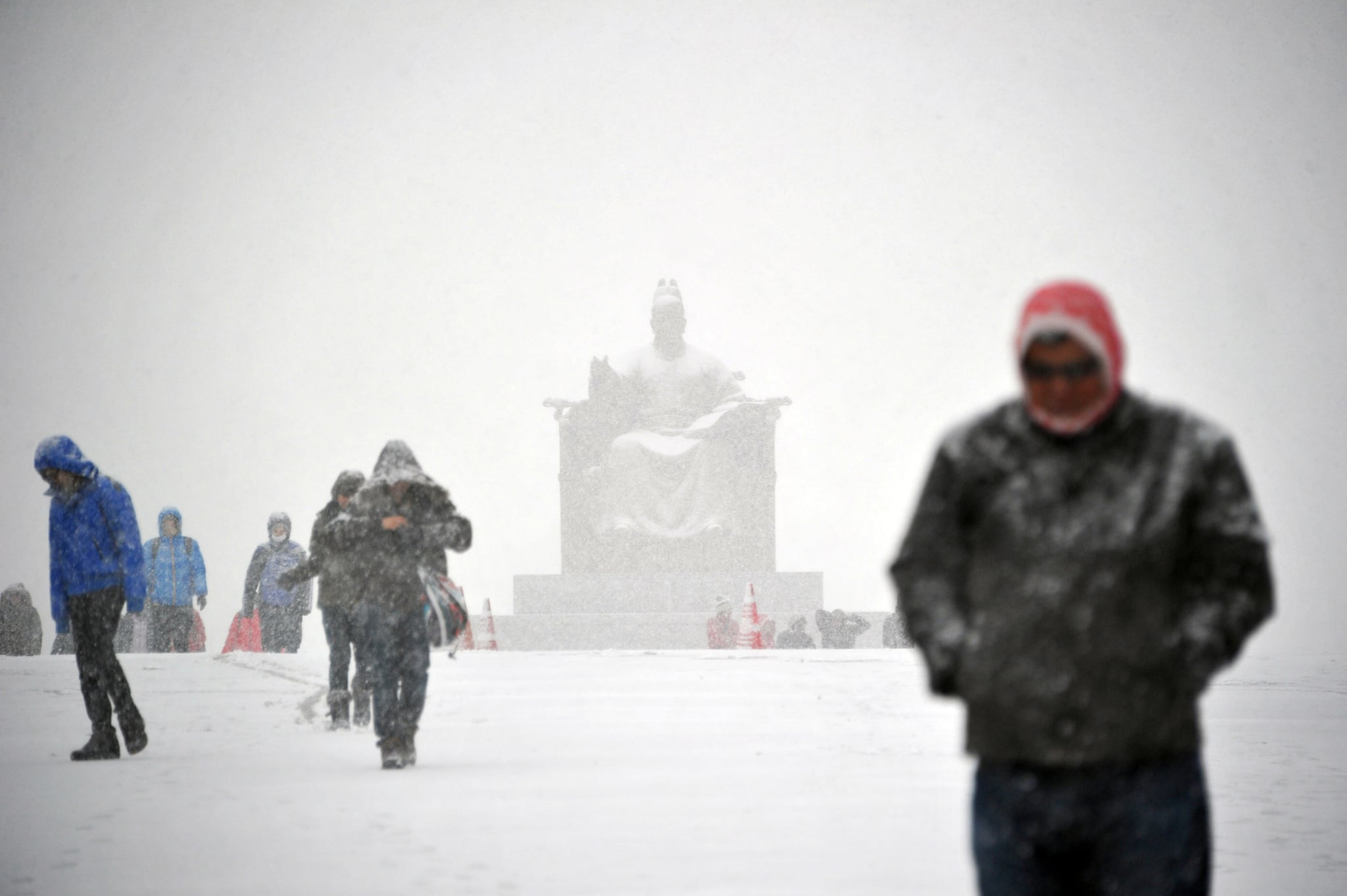 Seoul, South Korea, saw subzero temperatures and heavy snowstorms in mid-December.