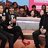 "Justin Timberlake stopped by BET's 106th & Park in NYC during his whirlwind press tour for The 20/20 Experience. The album was made available to stream online in its entirety, which JT had said is how it was meant to be played. ""We made it to listen from top to bottom. It's not so much a narrative or a story, but sonically we really made it to listen from top to bottom."""