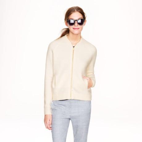 J.Crew Wool Bomber Sweater Jacket ($148)