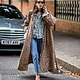 Style Your Leopard-Print Coat With: A Denim Jacket and Jeans