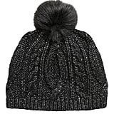 Metallic Cable-Knit Beanie