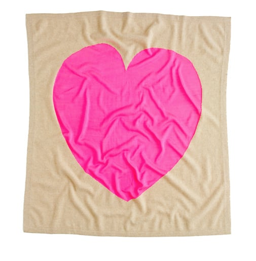 J.Crew Heart Me Cashmere Blanket