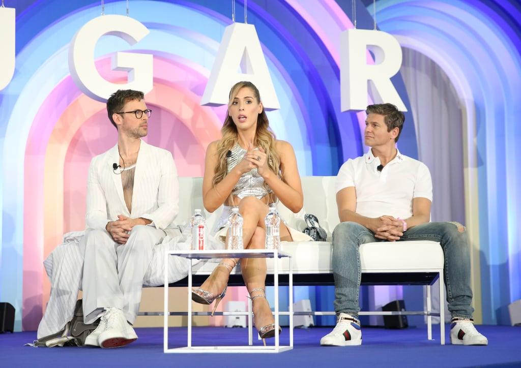 Brad Goreski, Carmen Carrera, and David Burtka