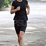Pippa Middleton in black spandex.