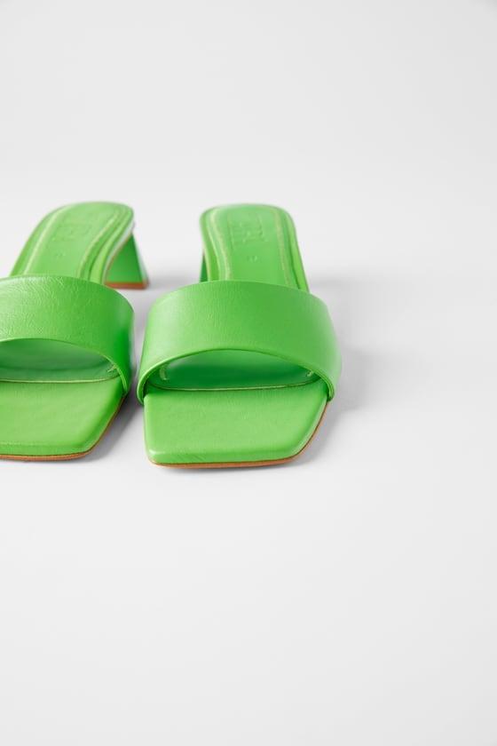 Zara Leather Mid Heel Mules ($99)