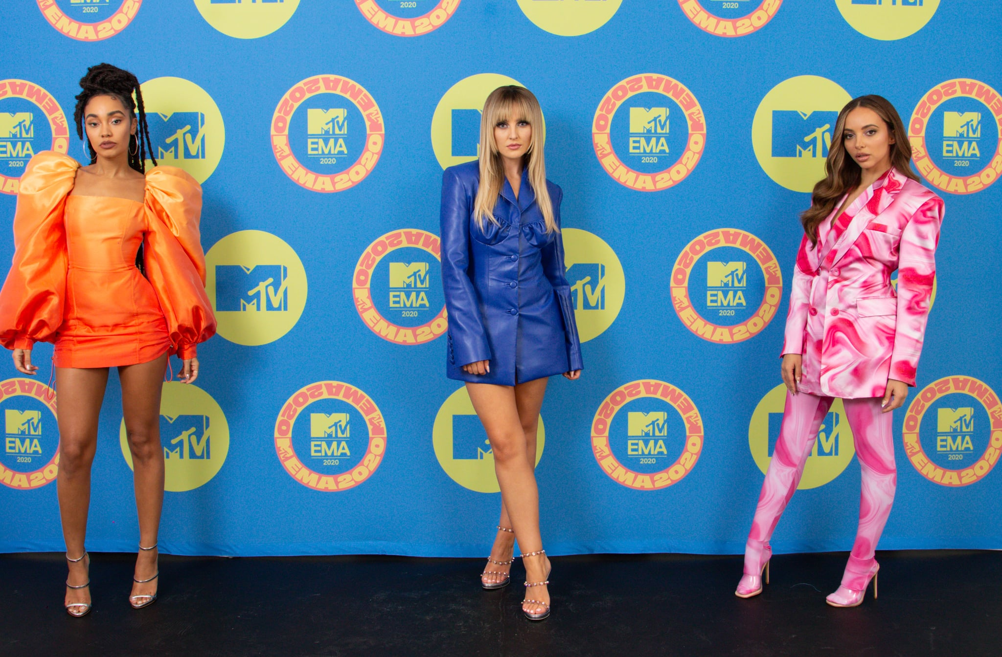 LONDON, ENGLAND - NOVEMBER 01: In this image released on November 08, (L-R) Leigh-Anne Pinnock, Perrie Edwards and Jade Thirlwall of Little Mix poses ahead of the MTV EMA's 2020 on November 01, 2020 in London, England. The MTV EMA's aired on November 08, 2020. (Photo by Callum Mills via Getty Images for MTV)