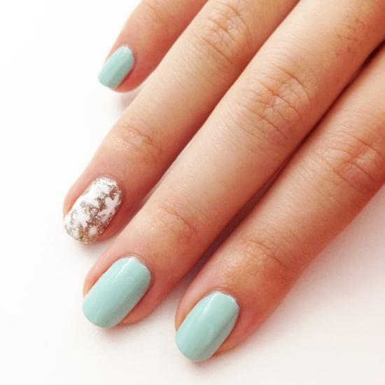 Simple Snowflake Nail Art