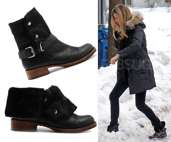 Gisele Bundchen Wearing Matt Bernson Buckle Boots in Boston