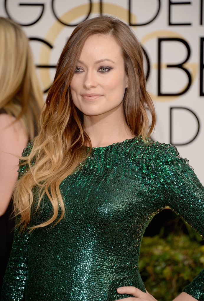 Olivia Wilde walked on the wild side with purple shadow and ombré locks.