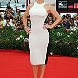 Kate Winslet in a white dress in Venice.