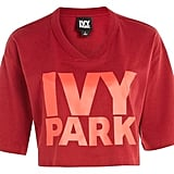 Ivy Park Logo V-Neck Crop T-Shirt