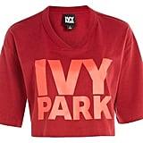 Ivy Park Logo V-Neck Crop T-Shirt