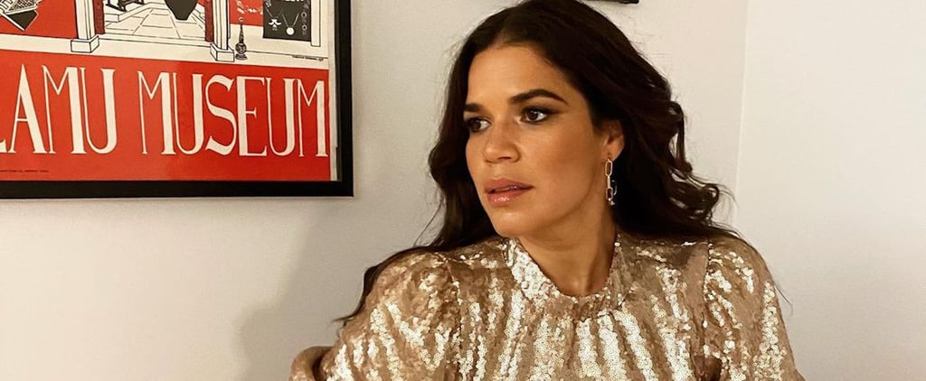 America Ferrera Wore a Gold Sequin Dress to Encourage Voting