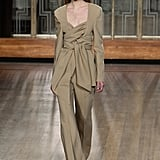 A Beige Suit From the Petar Petrov Fall 2020 Runway at London Fashion Week