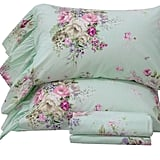 Queen's House 4-Piece Shabby Green Bed Sheet Sets