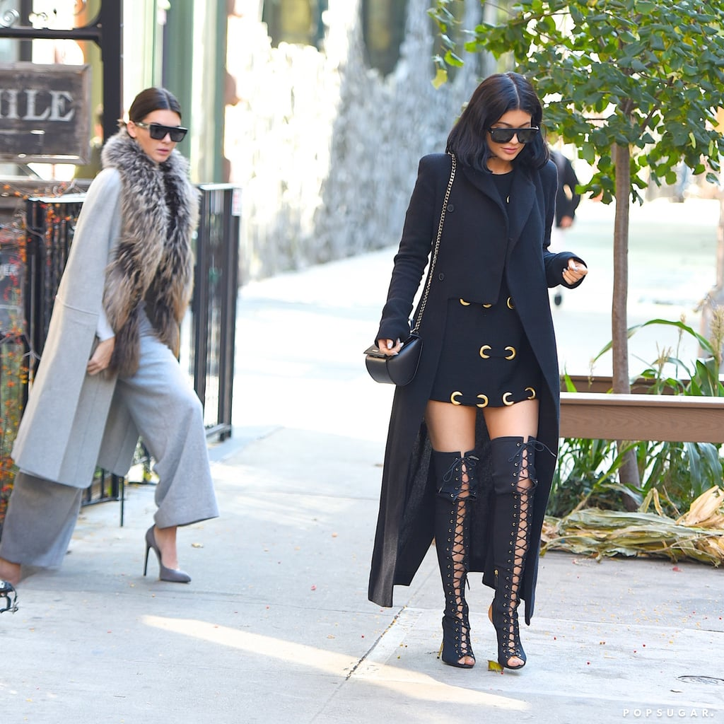 Kendall And Kylie Jenner Wearing Coats Popsugar Fashion