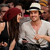 Back in May 2010, Nina Dobrev and Ian Somerhalder shared a laugh at a Lakers game.