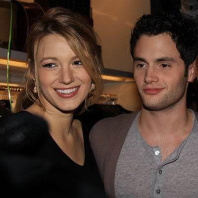 Blake Lively and Penn Badgley at the Juicy Couture Flagship Opening