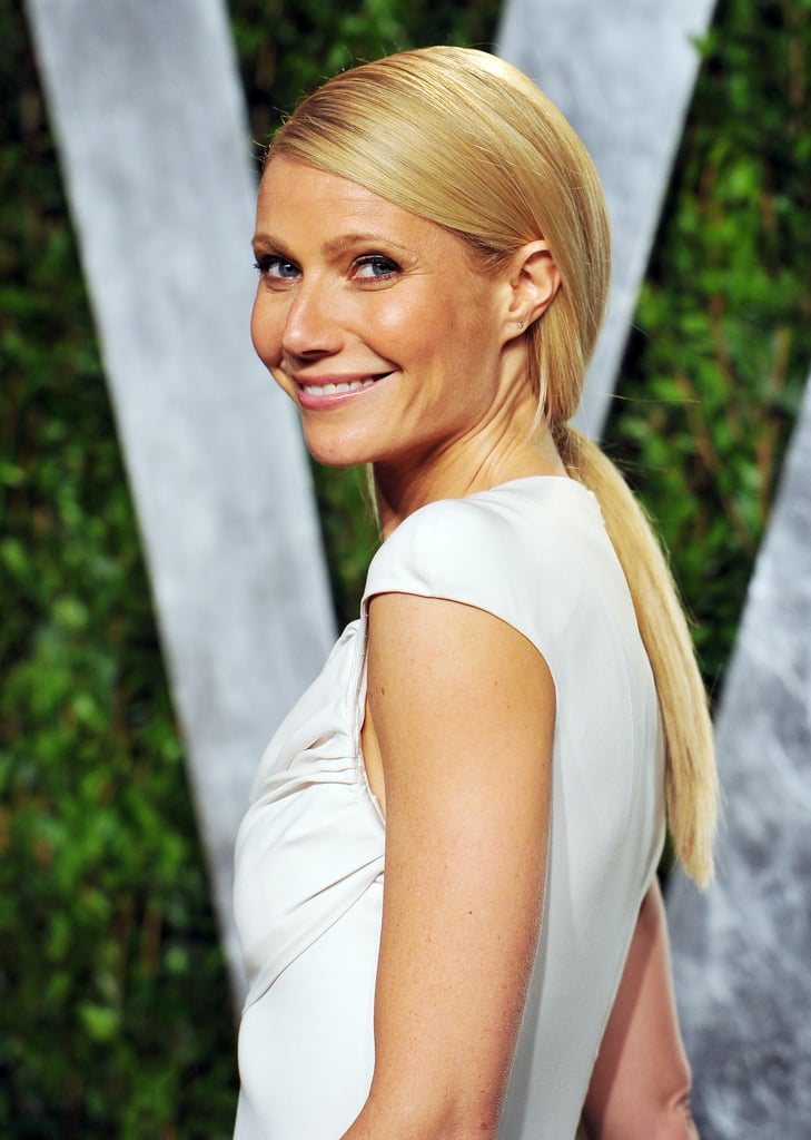 Of course, Gwyneth found a way to elevate an average low ponytail at the 2012 Vanity Fair Oscars Party.