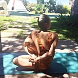 Miley did some Ashtanga yoga outside in the beautiful sunshine.
