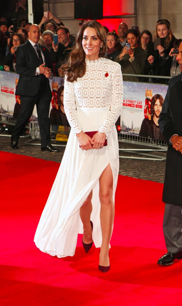 Kate Middleton White Self Portrait Dress Oct. 2016